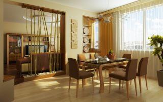 Бамбуковые обои и шторы в интерьере (+40 фото)