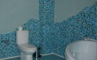 Как использовать в ванной комнате жидкие обои