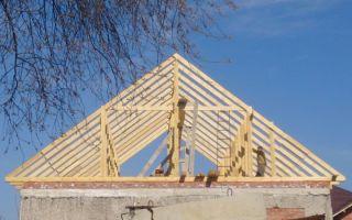 Двускатная крыша своими руками. технология строителства крыши