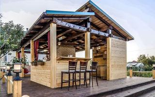 Как построить летнюю кухню (40 фото)