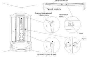 Инструкция по сборке душевой кабины своими руками