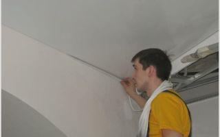 Как сделать сопряжение стен и потолка? маленькие хитрости