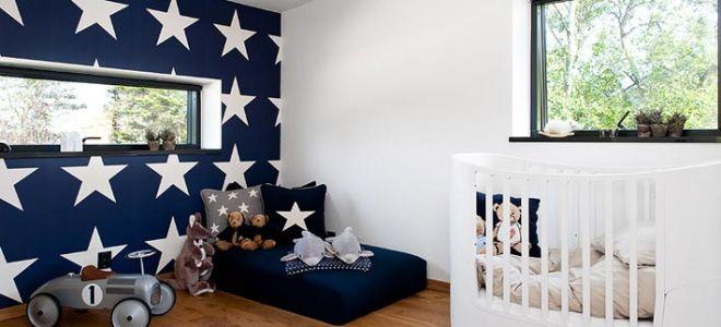 Акцентная стена в дизайне детской комнаты