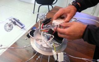 Замена и подключение светильника