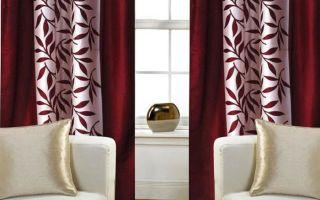 Бордовые шторы как стилеобразующий элемент в интерьере