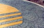 Декоративный бетон: печатный и штампованный своими руками, декор и технология рецептуры, видео и пресс