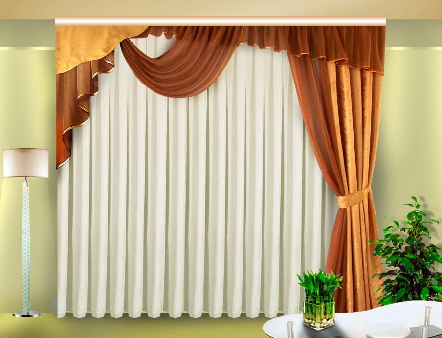 5 вариантов применения ассиметричных штор на окнах3