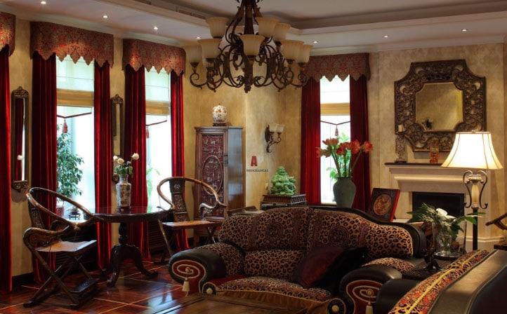 А вы знаете, как правильно применить бордовые шторы в интерьере комнат ?3
