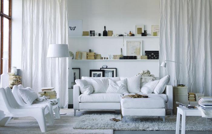 Белые шторы в интерьере: секрет красоты в каждой комнате2