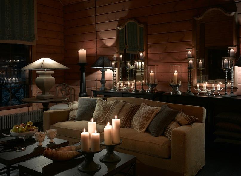 Блокхаус в интерьере дома отдыха в подмосковье0