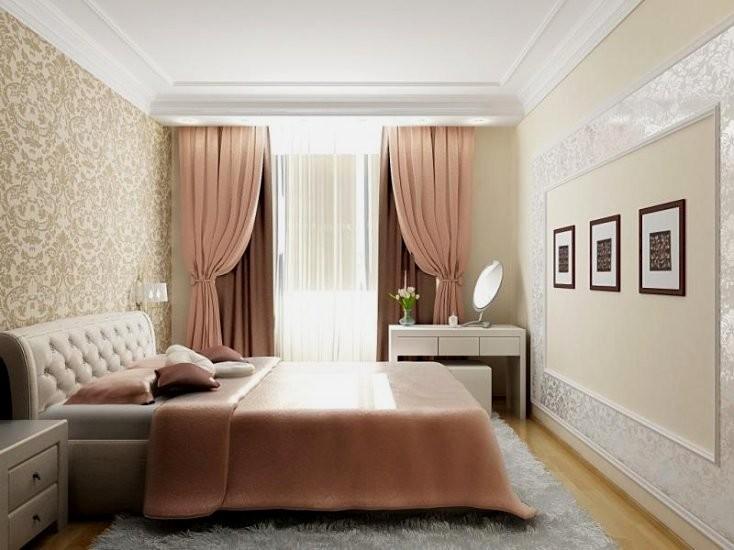 Cпальня 17 кв.м дизайн: цвет, кровать, декор2