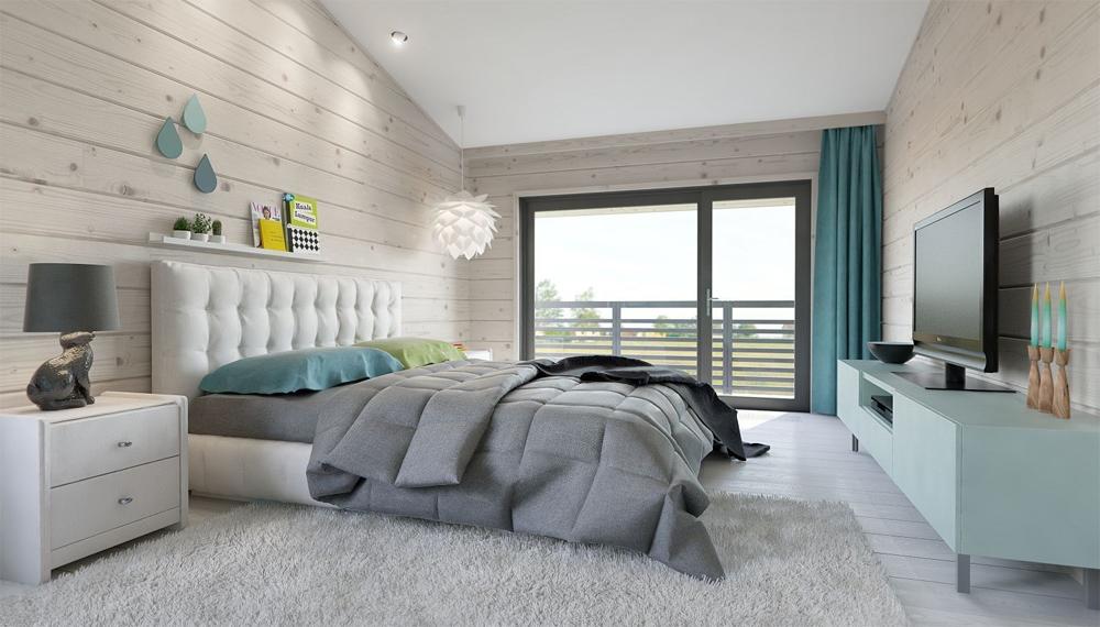 Cпальня 17 кв.м дизайн: цвет, кровать, декор4
