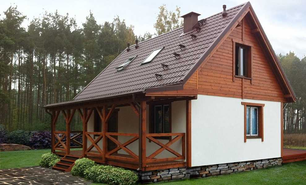 Дачный дом с верандой0