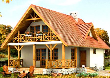 Дачный дом с верандой3