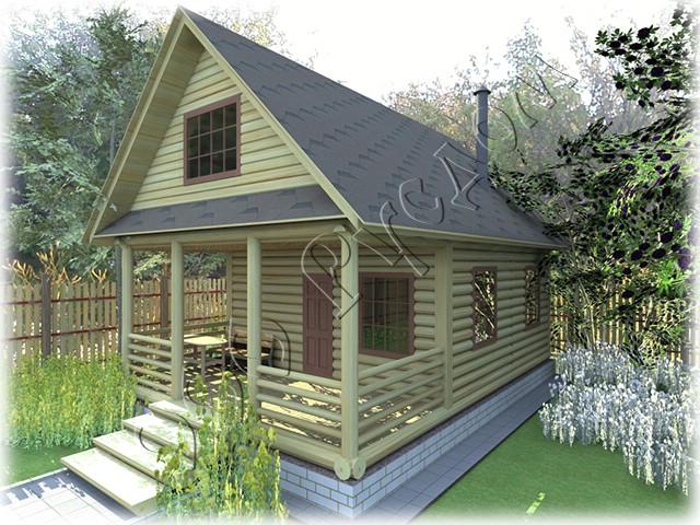 Дачный дом с верандой4