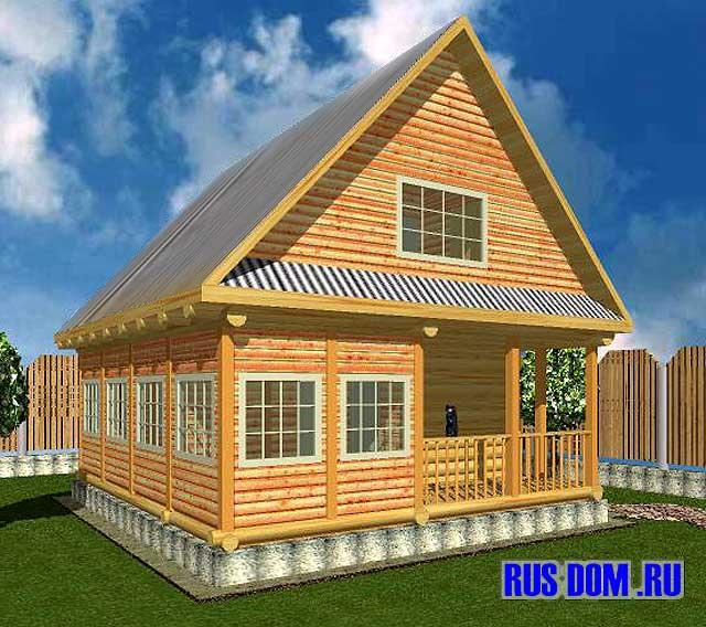 Дачный дом с верандой7