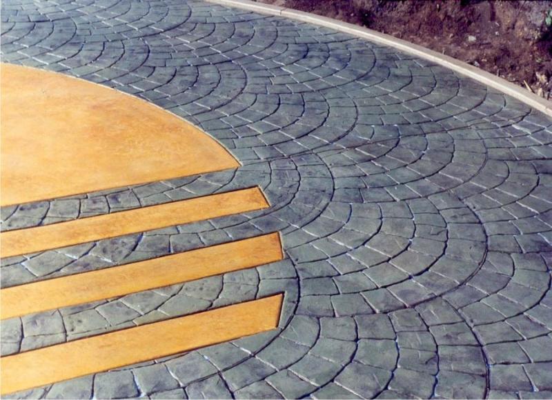 Декоративный бетон: печатный и штампованный своими руками, декор и технология рецептуры, видео и пресс3
