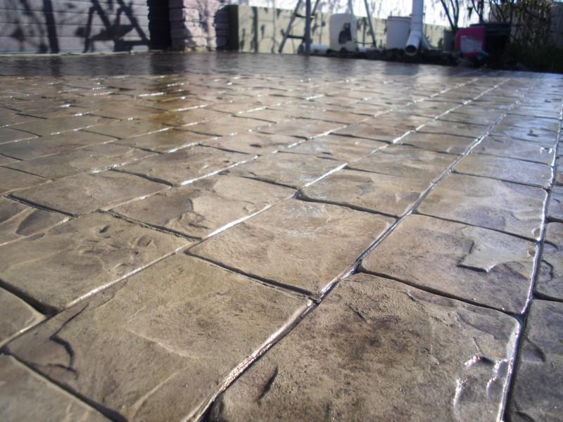 Декоративный бетон: печатный и штампованный своими руками, декор и технология рецептуры, видео и пресс4