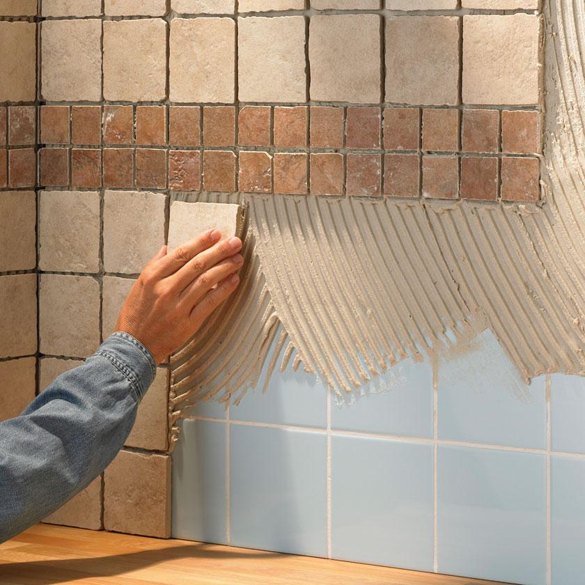 Демонтаж старой плитки в ванной комнате7
