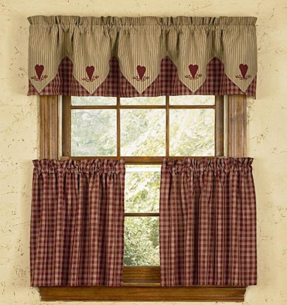 Деревенские шторы для кухни: выберите вариант оформления вашего окна4