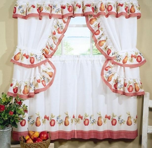 Деревенские шторы для кухни: выберите вариант оформления вашего окна5