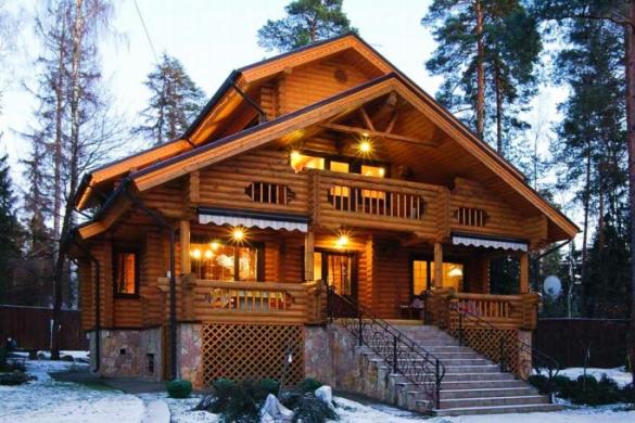Деревянный дом0