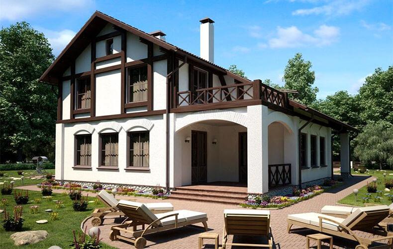 Деревянный дом в аутентичном европейском стиле5