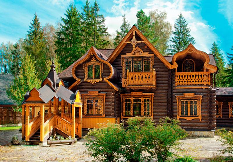 Деревянный дом в аутентичном европейском стиле6