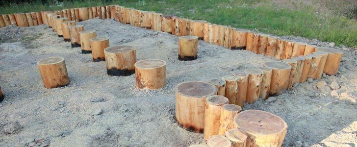 Деревянный фундамент своими руками0