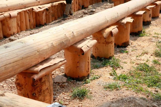 Деревянный фундамент своими руками1