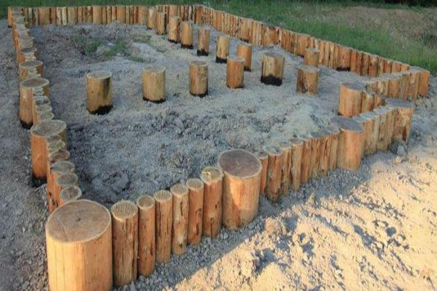 Деревянный фундамент своими руками2