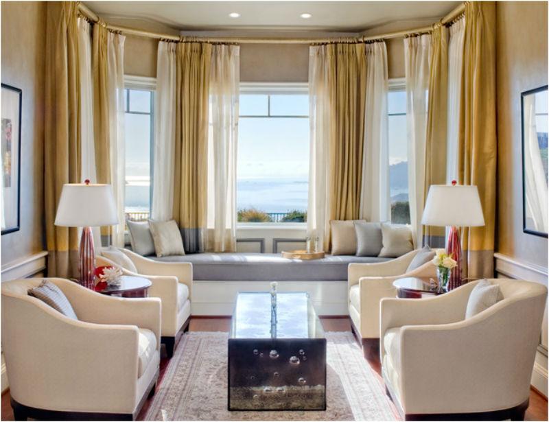Дизайн гостиной с грациозным эркером1