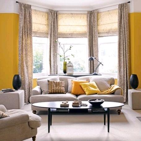 Дизайн гостиной с грациозным эркером2