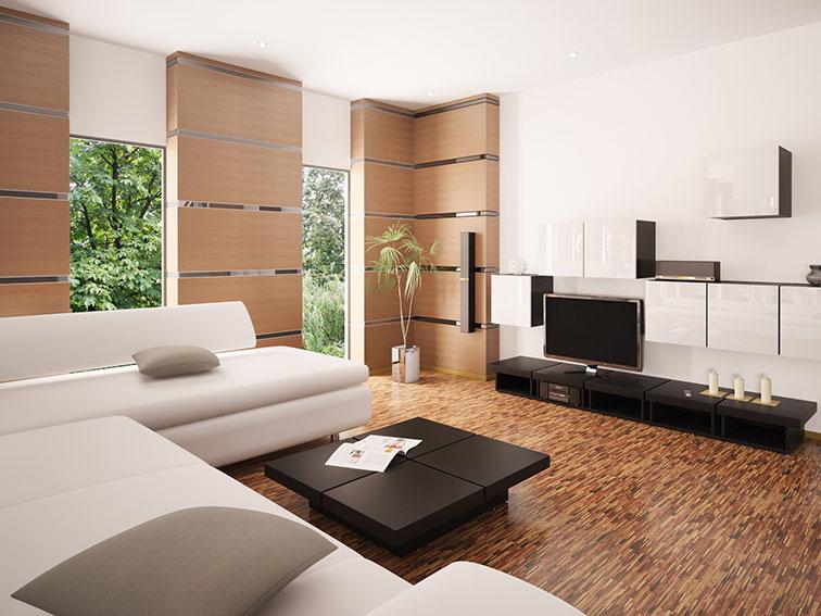 Дизайн гостиной в минимализме0