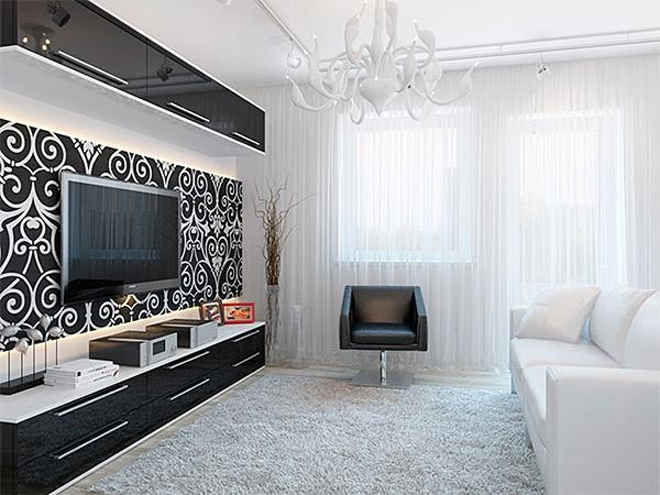 Дизайн гостиной в минимализме1