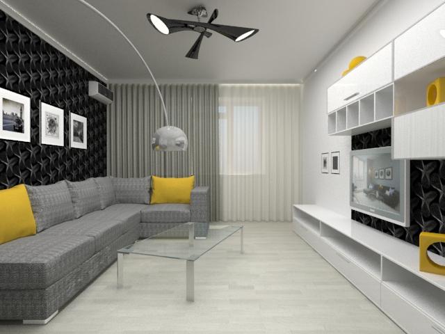 Дизайн гостиной в минимализме2