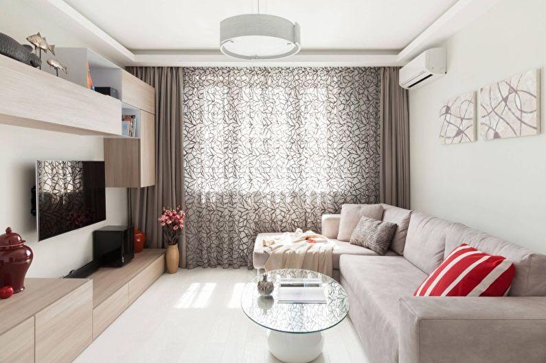 Дизайн гостиной в минимализме3