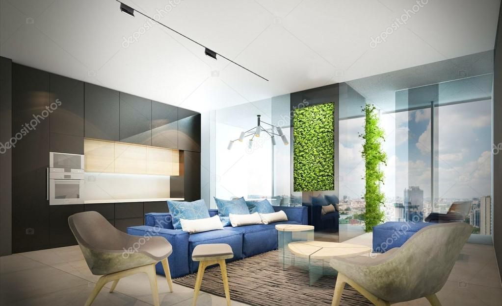 Дизайн гостиной в минимализме5