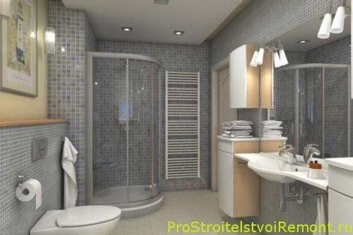 Дизайн и интерьер ванной комнаты с душевой кабиной2