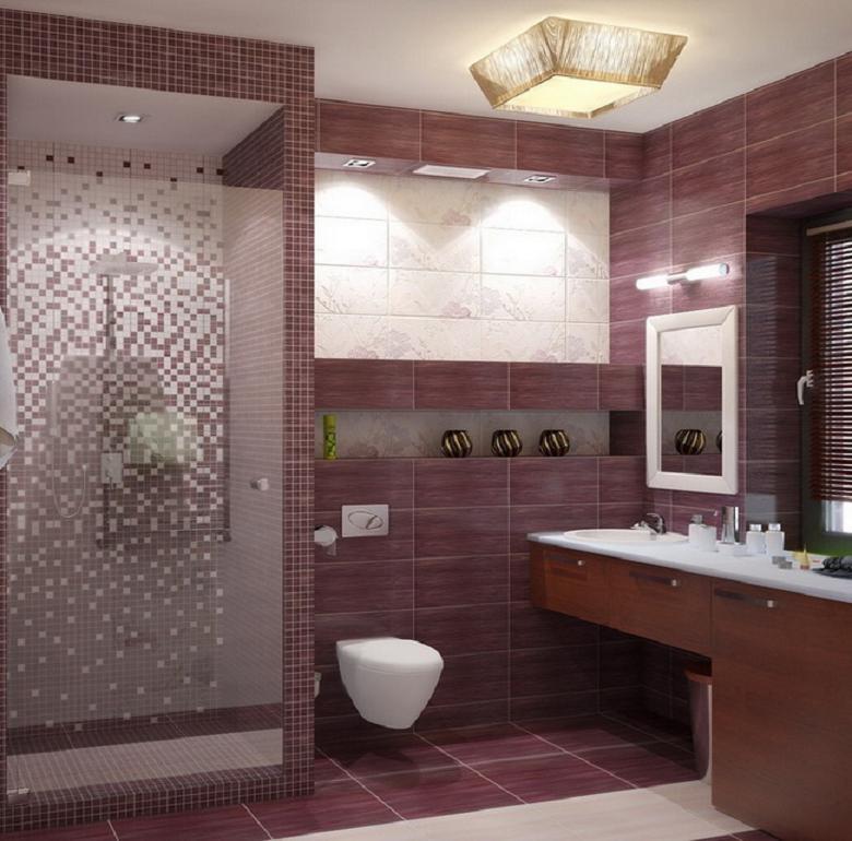 Дизайн и интерьер ванной комнаты с душевой кабиной5
