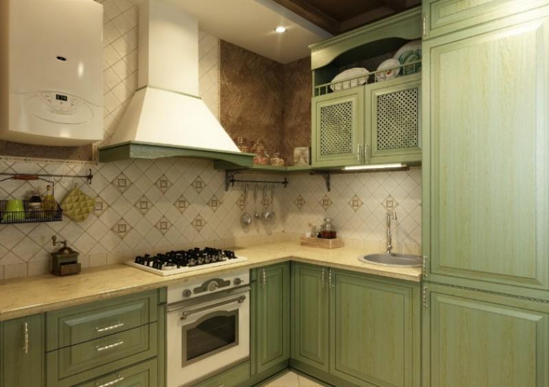 Дизайн кухни с газовой колонкой6
