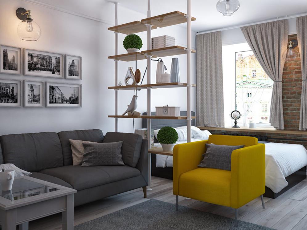 Дизайн однокомнатной квартиры4