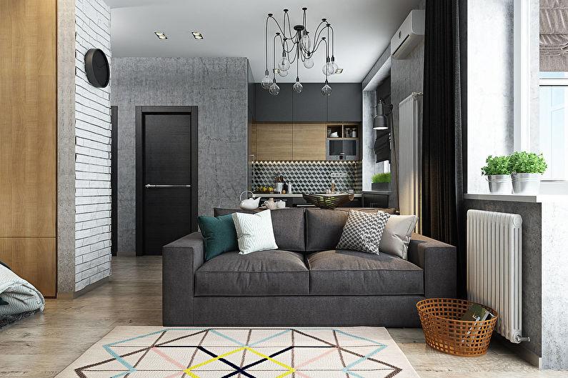 Дизайн однокомнатной квартиры6