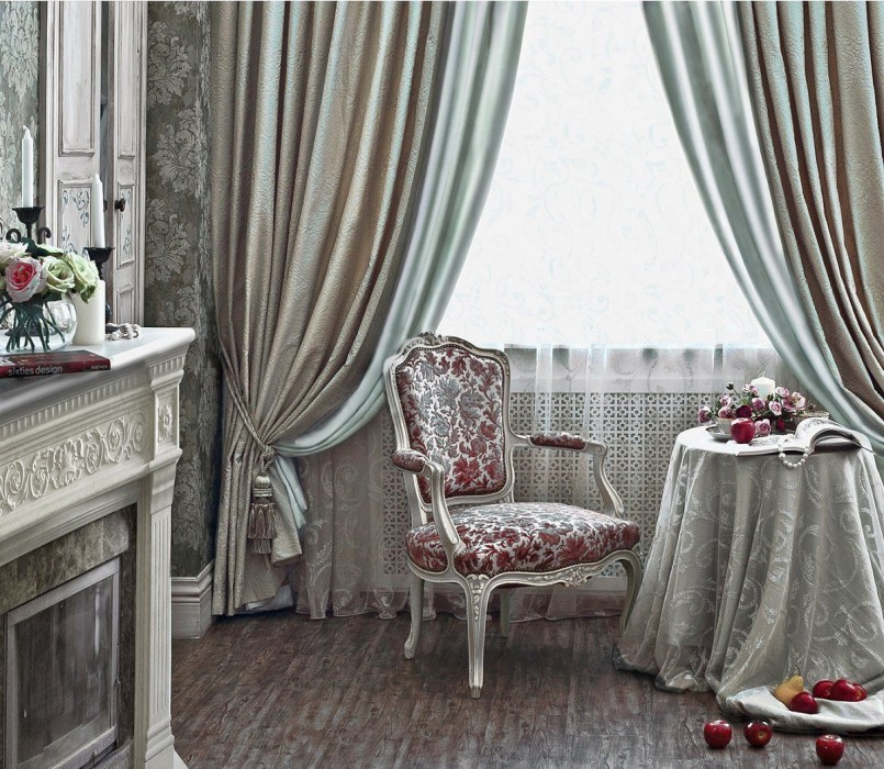 Дизайн штор: особенности выбора портьер и тюля5