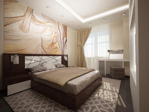 Дизайн спальни 12 кв м: выбор цветового оформления и мебели (фото)3