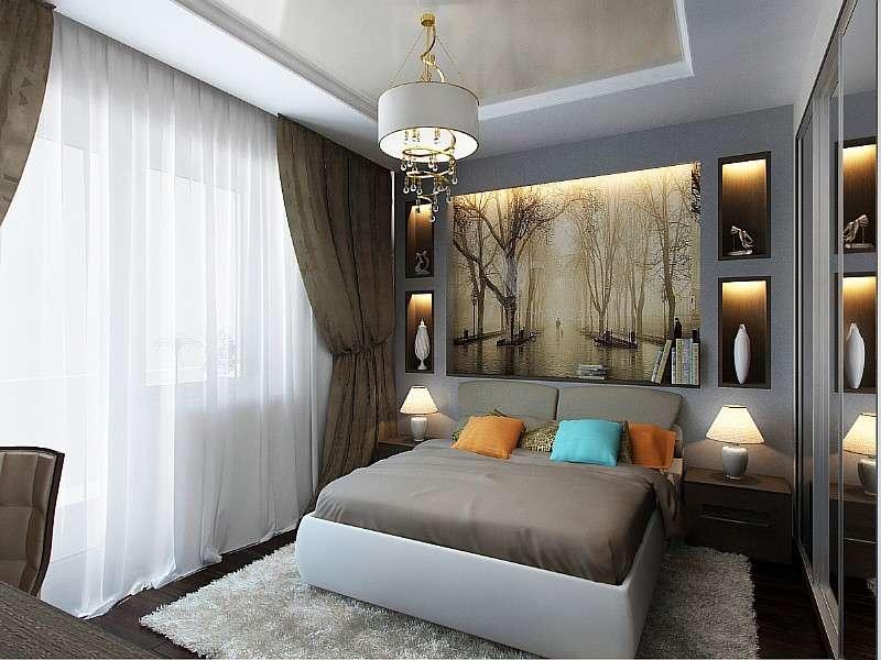 Дизайн спальни 12 кв м: выбор цветового оформления и мебели (фото)5