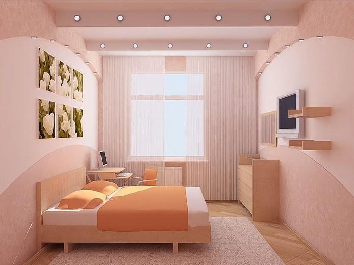 Дизайн спальни 8 кв м: правила оформления, выбор мебели1