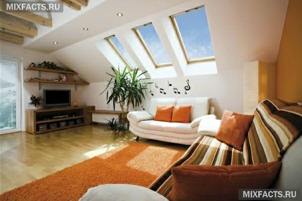 Дизайн спальни на мансардном этаже: правила оформления1