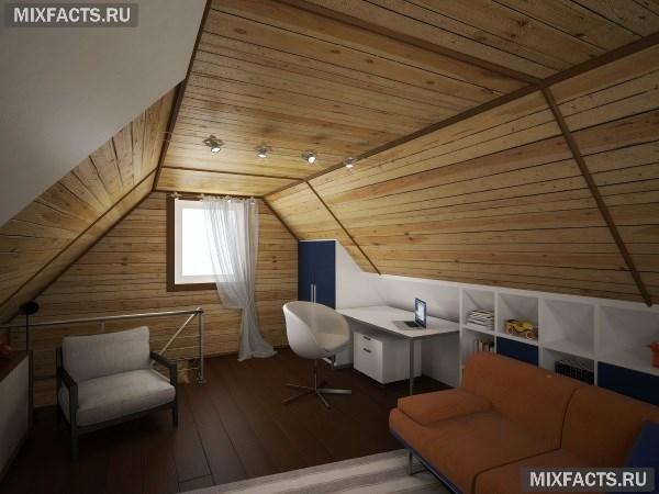 Дизайн спальни на мансардном этаже: правила оформления3
