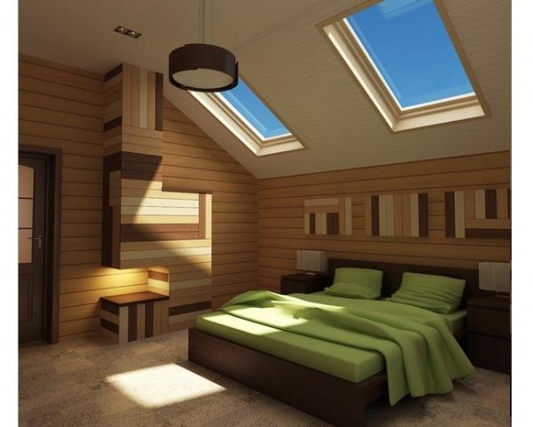 Дизайн спальни на мансардном этаже: правила оформления0